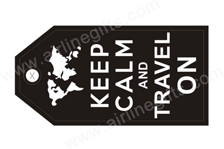 KEEP CALM TRAVEL ON (Black) Bag Tag TAG424