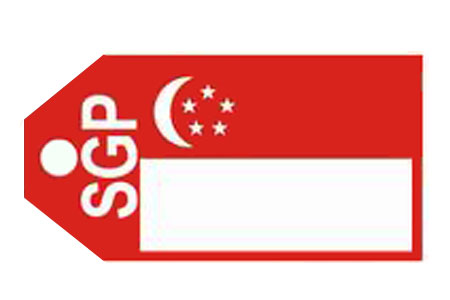 Singapore Flag Bag Tag TAG319